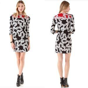 Diane von Furstenberg DVF Ruri Chain Sheath Dress
